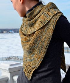 Rippling a side to side knitted shawl/shawlette PDF by Sarahmontie, $5.00