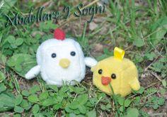 Cocca Hen Chicken Keychain Plushie Plush  MADE TO by girasole, $11.00