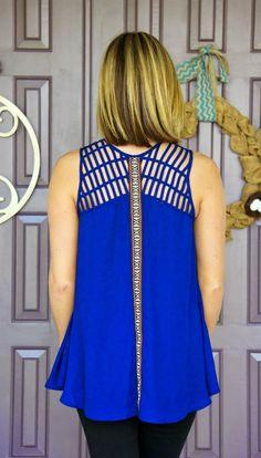 Wells Grace Emmy Embroidered Lattice Detail Blouse @Stitch Fix #stitchfix