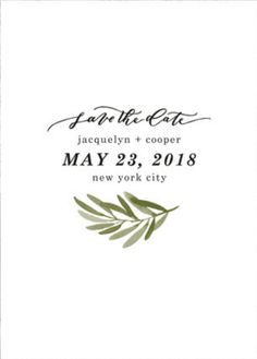 Set the tone for your upcoming wedding date with a unique Save the Date card from Minted.