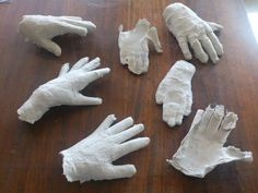 Plaster and Mod Roc hands. Year 9.