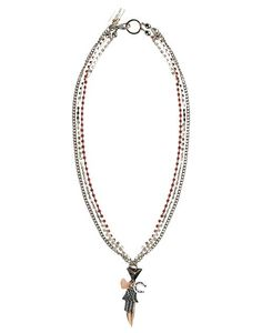 https://www.cityblis.com/2069/item/14427 | Art.HYP029_Mystic Necklace - $118 by Maiden-Art Boutique | Necklace made with oxydized brass, rose gold brass, crystals and charms. Hand varnished, hypoallergenic and hand made in Italy. Collana realizzata in bronzo ossidato, bronzo bagnato nell'oro rosa, cristalli e pendenti. Realizzata a mano in Italia e nickel free. | #Necklaces