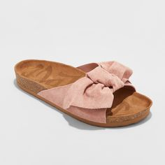 Bring texture and dimension to your warm-weather looks with the Adia Bow Footbed Sandals from Mad Love. With a simple bow decorating the upper band, these. Bow Sandals, Cute Sandals, Open Toe Sandals, Cute Shoes, Women Sandals, Shoes Women, Ladies Sandals, Sandals Outfit, Espadrille Sandals