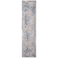 2'x8' Runner Lucila Rug Gray/Blue - Safavieh : Target Grey Rugs, Beige Area Rugs, Entryway Runner, Washable Rugs, Blue Grey, Gray, Rug Making, Rug Size, Size 2