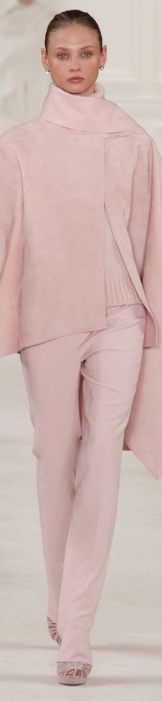 Ralph Lauren -- what a gorgeous shade of pink, one I would wear.... More
