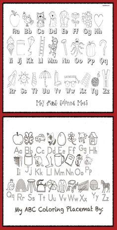 """Classroom Freebies: """"Color Me"""" Alphabet Poster Mats"""