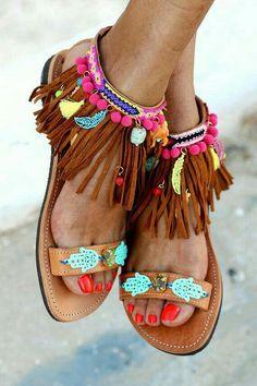 fa5e6a68 Sandalia Tejida, Sandalias Para Dama, Sandalias De Cuero, Zapatos Planos,  Tipos De