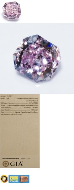 Natural Diamonds 3824: 0.63Ct Pink Diamond - Natural Loose Fancy Purple Pink Color Gia Cushion Si1 -> BUY IT NOW ONLY: $14200 on eBay!