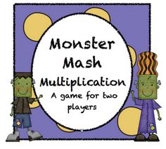 Monster Mash Multiplication Game - Free download, perfect activity for Halloween!