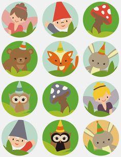 Woodland Fairies Birthday Free Printable Mini Kit.