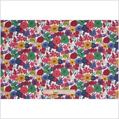Multi-Color Floral Printed Cotton Voile Fabric by the Yard | Mood Fabrics
