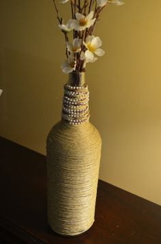 Twine Wine Bottle Art