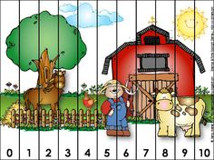 Teaching with Nancy: Math Printables Preschool Math, Kindergarten, Farm Unit, Primary Maths, Math Numbers, Farm Theme, Math Class, Numeracy, Small Groups