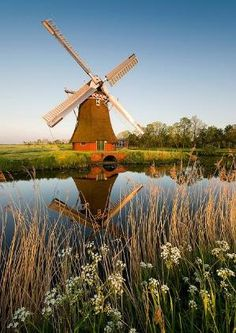 Noordwolde, Groningen, The Netherlands Netherlands Windmills, Holland Windmills, Old Windmills, Places Around The World, The Places Youll Go, Places To See, Around The Worlds, Wonderful Places, Beautiful Places