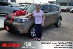 Thank you to Bertina Hayden on your new 2014 #Kia #Soul from Gil Guzman and everyone at Westside Kia! #NewCarSmell