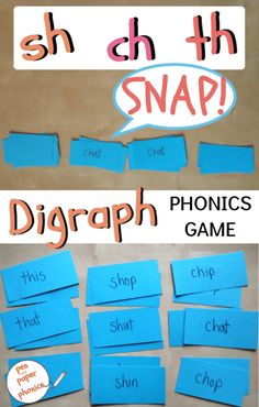 Consonant Digraph Snap - Pen and Paper Phonics