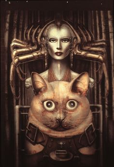 """8. H. R. Giger, """"Witches,"""" November 1981:   9 Stunning Pieces Of Art Inspired By Science Fiction #giger #hrgiger #alien #xenomorph #biomechanoid"""