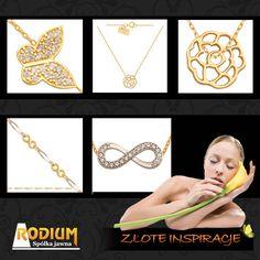 Złote łańcuszki, branzoletki, przywieszki, motylki, nieskończoność złota - ZAINSPIRUJ SIĘ.