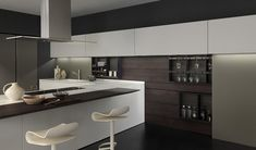 Inspired by the concept of minimal design, the modern kitchen environment shows a new style: everything is seamlessly co-ordinated. LIGHT design kitchen program. www.modulnova.it #designkitchen #interiordesign