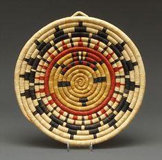 Coiled plaque, circa 1970's, with Sun design (Hopi)