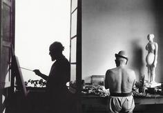 Estudios de genios  Izq: Henri Matisse. Pintor francés. - Dcha: Pablo Picasso. Artista español. Pintor, escultor, impresor, ceramista y diseñador.