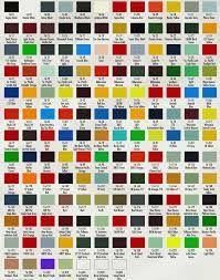 Peterbilt Color Chart