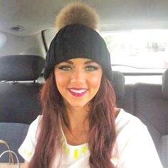 Xfactor's Lydia Lucy wears her black Amelia Jane pom pom hat in her video for her new single 'Only a Fool'