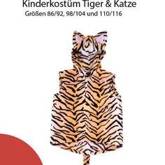 Nähanleitung Kinderkostüm Tiger / Katze Gr. 86-116 für Anfänger geeignet