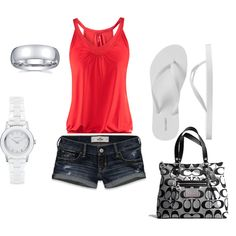 Cute summer outfit! I already have the Coah purse :-)