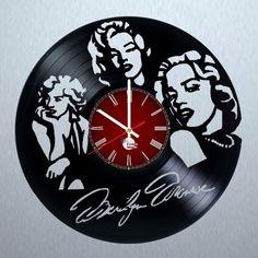 Marilyn Monroe Vinyl Record Wall Clock Unique Gift - VINYL CLOCKS