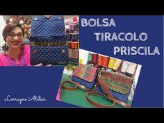 DIY - Como fazer Alça de Mão com Mosquetão by Silvia Ramos Atelier - YouTube Craft Tutorials, Sewing Tutorials, Sewing Projects, Sewing Patterns, Diy Purse, Patchwork Bags, Free Sewing, Craft Videos, Small Bags