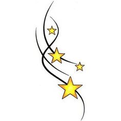 star tattoo. I want different colors