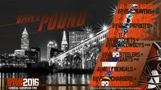 Schedule wallpaper for the Cleveland Browns Regular Season, 2016. All times CET. Made by #tgersdiy