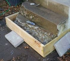 How to Repair Concrete Steps Stair, How To Cement DIY