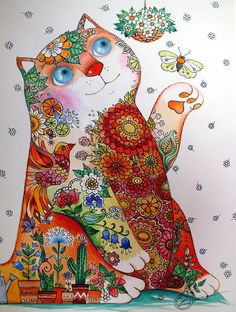 "♥ ""Bucolic Cat"" by Oxana Zaika."
