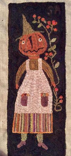 Rug Hooking Patterns, Rug Patterns, Hook Punch, Pom Pom Rug, Cute Crafts, Fall Crafts, Punch Needle Patterns, Vintage Halloween, Halloween Stuff