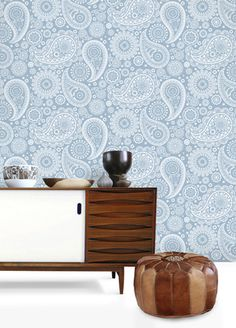 Paisley Crescent wallpaper from Mini Moderns