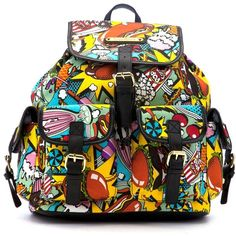 Anna Smith New York Comic Backpack ($44) ❤ liked on Polyvore