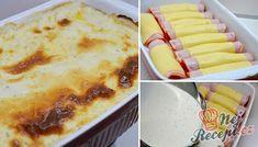 Jednoduchá příprava, která stojí za vyzkoušení. Uvidíte, že klasika bude každému chutnat. Obvykle plníme kuřecí prsa šunkou a sýrem a tentokrát je to naopak. Kuřecí prsa zabalená v šunce a v sýru, to celé zalité omáčkou a zapečené v troubě. K tomu klasická bramborová kaše nebo vařené brambůrky a oběd máte hotový. Autor: Lacusin 4 Ingredients, Mashed Potatoes, Macaroni And Cheese, Low Carb, Bread, Ethnic Recipes, Mozzarella, Ground Beef Recipes, Ham And Cheese