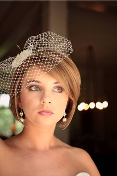 How to wear a veil with a bob? - Weddingbee