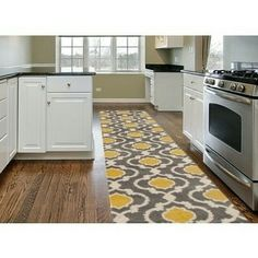 Ottomanson Ottohome Collection Contemporary Bordered Design Modern Unique Kitchen Runner Rugs Design Ideas