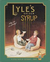 Lyles Golden Syrup VINTAGE ENAMEL METAL TIN SIGN WALL PLAQUE