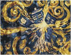 Exploding Tardis Cross Stitch Pattern Doctor Who on Etsy, $6.00 - @moxiethrift on etsy Spann I wish I had the time to do this for you...18 ct, 11 x 14 inches