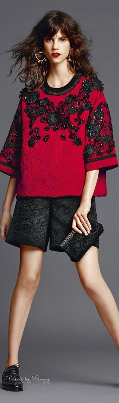 CUTE jacket ! Again, SEW easy to sew ! ♔Dolce & Gabbana.2015♔