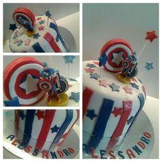 Capitan america cake, avengers theme, torta capitan america
