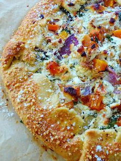 galette, it has a combo of cauliflower, butternut squash, onion and kale, … Quiches, Vegetable Recipes, Vegetarian Recipes, Frango Chicken, Galette Recipe, Savory Tart, Roasted Cauliflower, Recipe Using, Ricotta