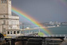 Rainbow at Soo Locks, photo by kdclarkfarm
