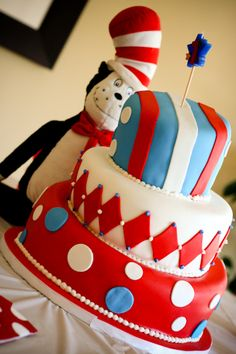 Dr. seuss cake...this is what i want if i do Dr suess... Its between that answer mickey mouse clubhouse as of now