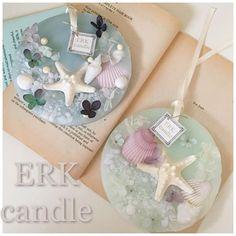新作♡大人マリンワックスバー♡笑 蜜蝋使用(*^^*) #candle #aroma #キャンドル #アロマ #shell #貝殻 #スターフィッシュ #マリン #大人 #落ち着き #蜜蝋 #ワックスバー #ワックスサシェ #可愛い #涼しげ #ERKcandle