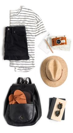 Adventure gear for vacation 2015 Classy Outfits, Casual Outfits, Cute Outfits, All Fashion, Fashion Outfits, Adventure Gear, Travel Wardrobe, Playing Dress Up, Travel Style